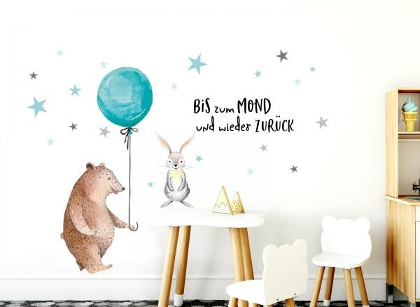 Little Deco Wandtattoo Hase & Bär mit Luftballon DL192
