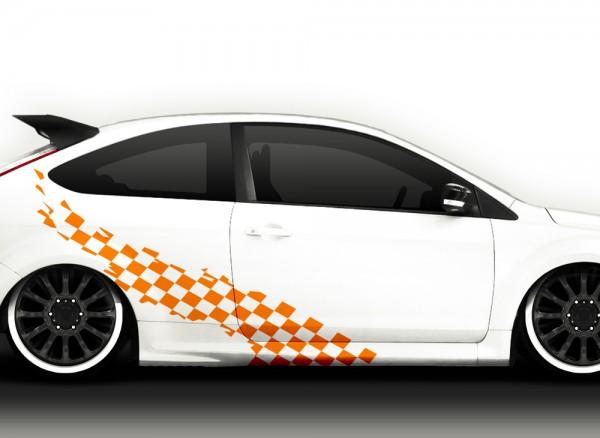 2er Set Autoaufkleber Racingstyle X7168