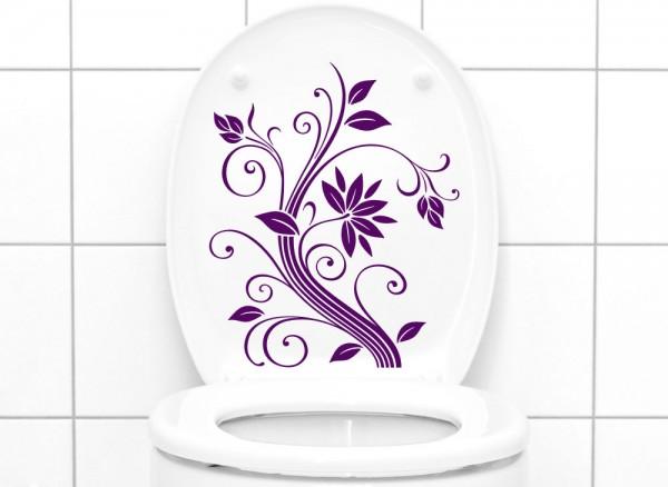 Wandtattoo WC Aufkleber Blumenranke W856