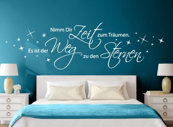Wandtattoo Zitat Nimm dir Zeit zum träumen... W5099