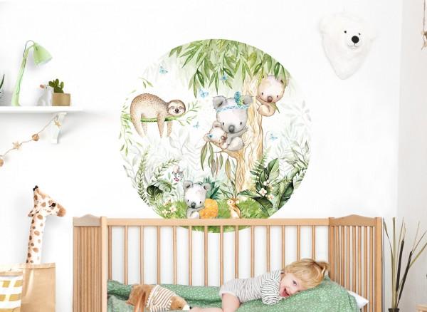 Little Deco Wandtattoo Koala und Faultier im Baum DL559