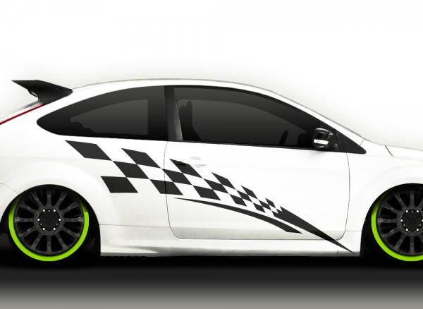 2er Set Autoaufkleber Racingstyle X7026