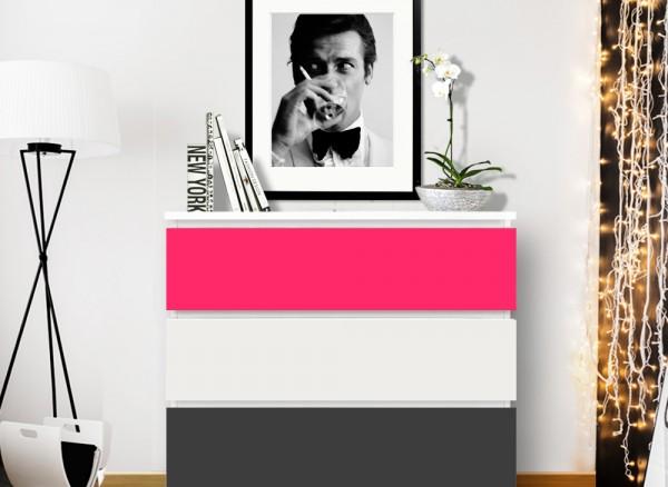Möbelfolie 2-farbig pink, dunkelgrau W5343