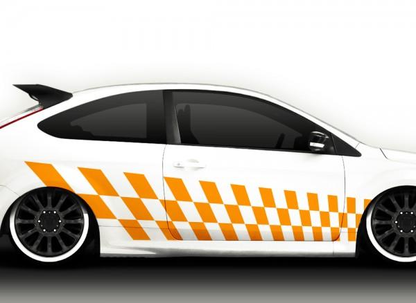 2er Set Autoaufkleber Racingstyle X7165