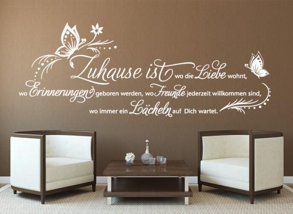 wandtattoo zitat zuhause ist wo die liebe wohnt w5145. Black Bedroom Furniture Sets. Home Design Ideas