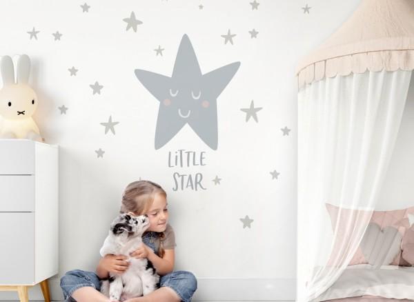 Little Deco Wandtattoo Sterne & Spruch Little Star DL249