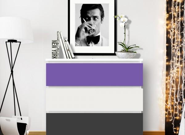 Möbelfolie 2-farbig lavendel, dunkelgrau W5345