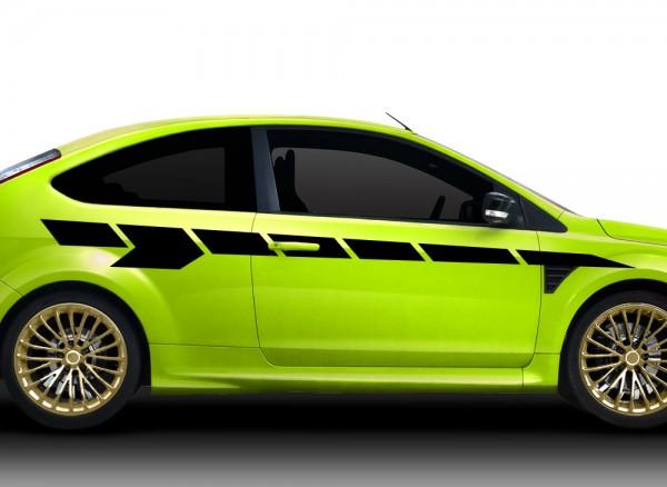 2er Set Autoaufkleber Racingstyle X7138