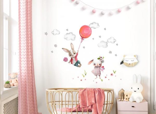 Little Deco Wandtattoo Hasen mit Luftballon DL599