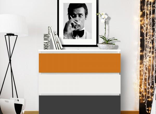 Möbelfolie 2-farbig orangebraun, dunkelgrau W5348