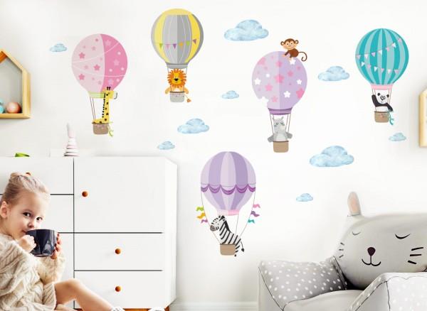 little deco zoo tiere im hei luftballon dl210 m dchen. Black Bedroom Furniture Sets. Home Design Ideas