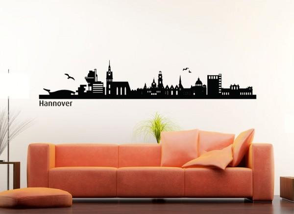 Wandtattoo Skyline Hannover G138