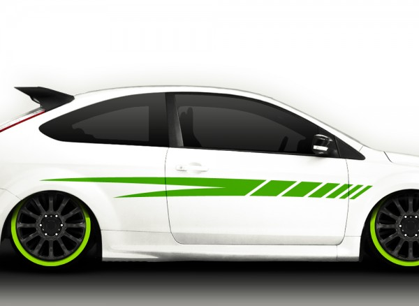 2er Set Autoaufkleber Racingstyle X7068