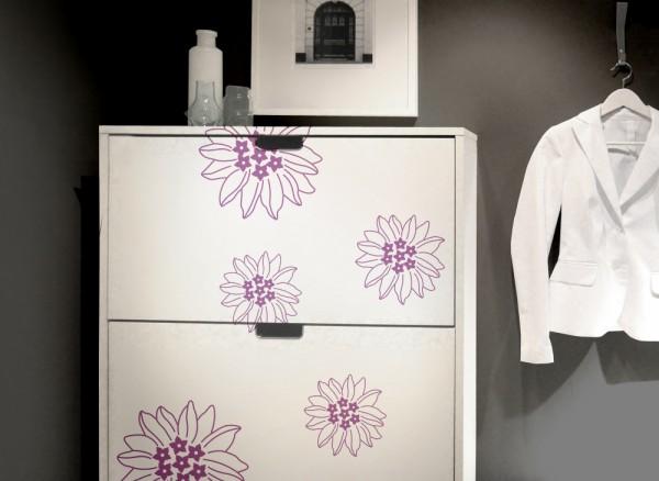 Wandtattoo 5er Set Blumenblüten W5160