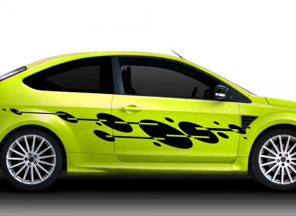 2er Set Autoaufkleber Racingstyle X7156