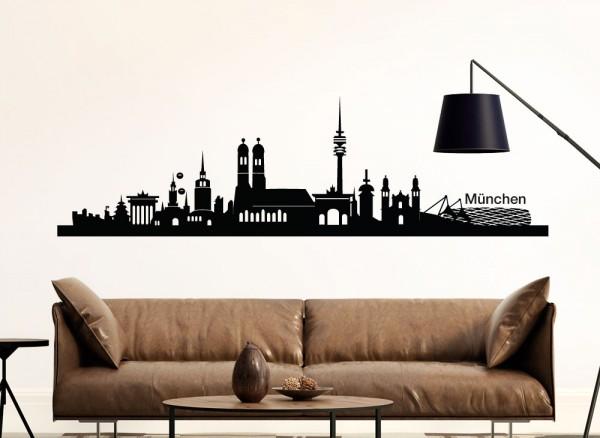 Wandtattoo München Skyline G139