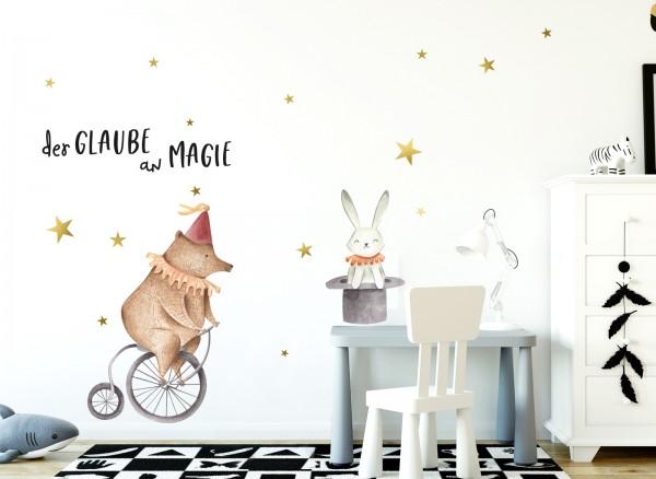 Little Deco Wandtattoo Bär auf Fahrrad & Hase im Hut DL135