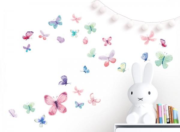 Little Deco Wandtattoo 26 Schmetterlinge DL653