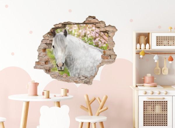 Little Deco Wandtattoo 3D Loch in der Wand mit Pferd DL626