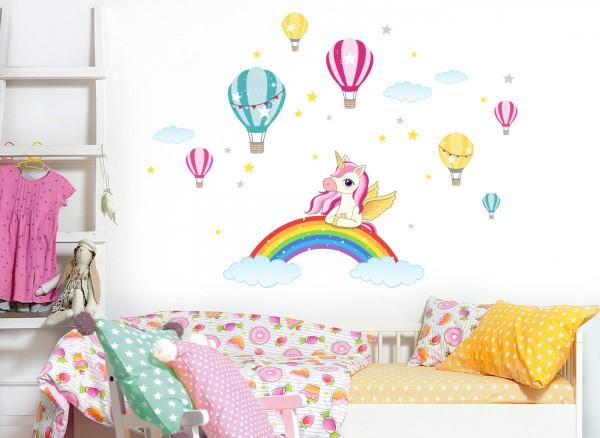 Little Deco Wandtattoo Einhorn mit Regenbogen DL525