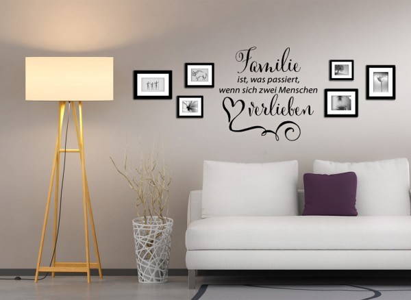 wandtattoo spruch familie ist was passiert w5017. Black Bedroom Furniture Sets. Home Design Ideas
