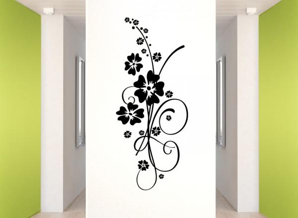 Wandtattoo Hibiskus Blumenranke Elainore W5031