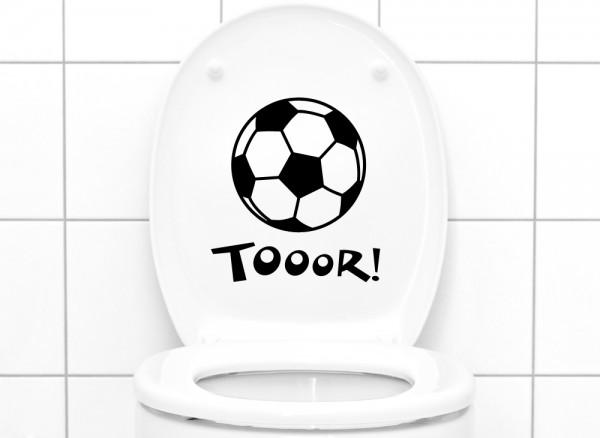 Wandtattoo WC Aufkleber Tor mit Fußball W5044