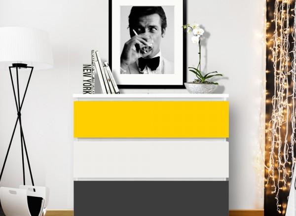 Möbelfolie 2-farbig gelb, dunkelgrau W5335