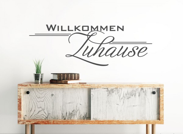 wandtattoo spruch willkommen zuhause w1252. Black Bedroom Furniture Sets. Home Design Ideas