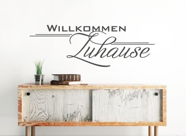 Wandtattoo Spruch Willkommen Zuhause W1252