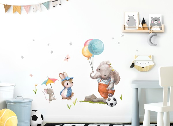 Little Deco Wandtattoo Hase Maus und Elefant DL727