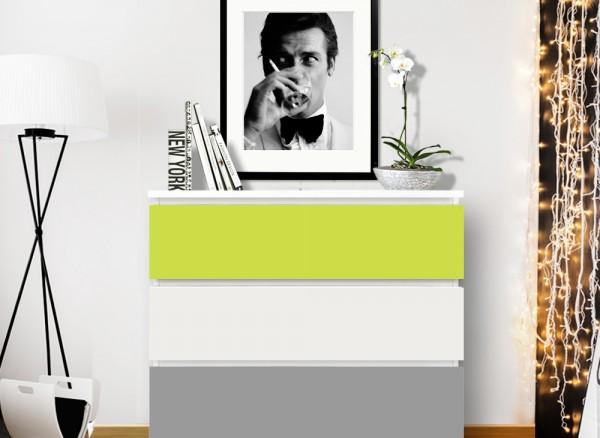 Möbelfolie 2-farbig pastellgrün, mittelgrau W5331