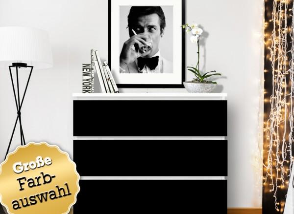 Möbelfolie einfarbig passend für IKEA MALM Kommode W5234