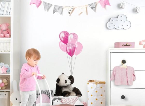 Little Deco Wandtattoo Pandabär mit Luftballons DL528