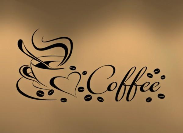 Wandtattoo Coffee Kaffeetasse Herz W922
