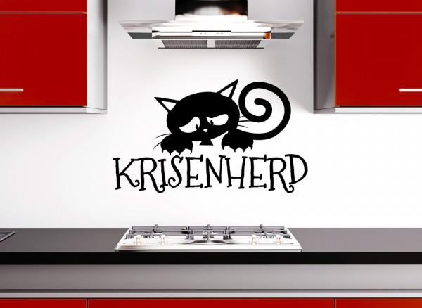 Wandtattoo Krisenherd mit Katze W5024