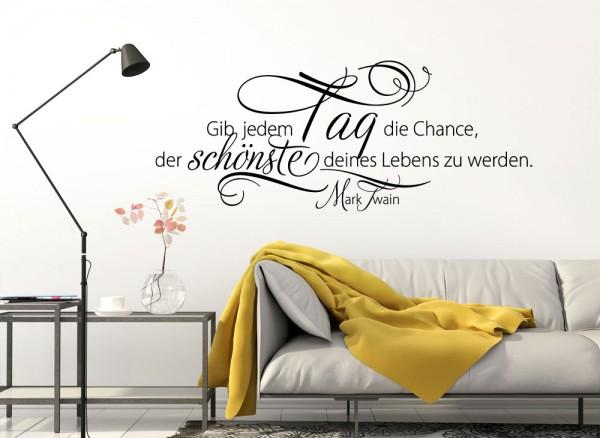 Furniture Stickers Wandtattoo Spruch Gib Jedem Tag Die