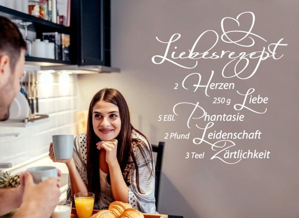 Wandtattoo Zitat Liebesrezept W766