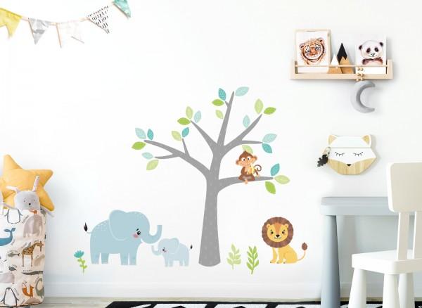 Little Deco Wandtattoo Safaritiere & Baum DL516