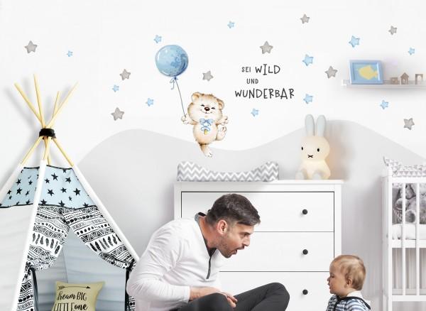 Little Deco Wandtattoo Sei wild & Teddybär mit Luftballon DL327