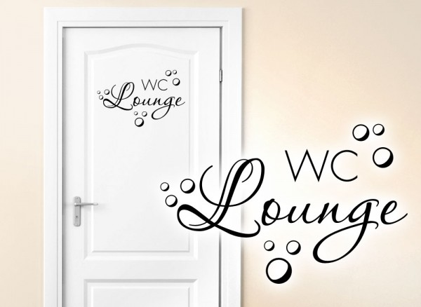 Wandtattoo Türaufkleber WC Lounge W5441