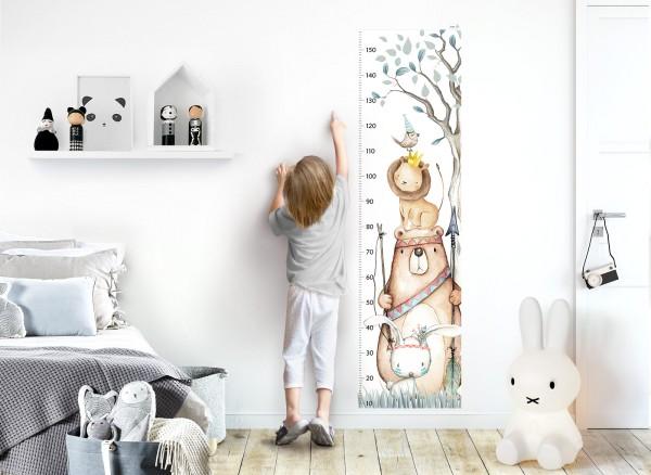 Little Deco Wandtattoo Messlatte 150cm Bär Hase Löwe DL459
