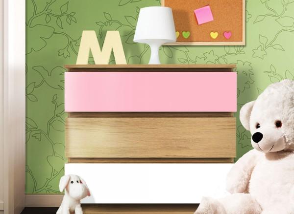 Möbelfolie 2-farbig pastellrosa, weiß W5350