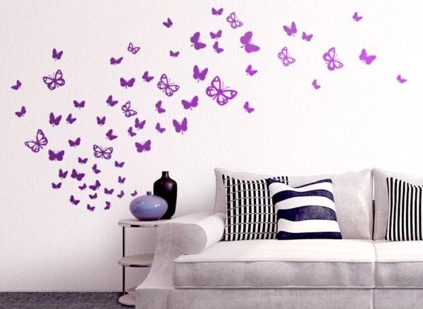 Wandtattoo 64 Schmetterlinge in verschiedenen Größen W819