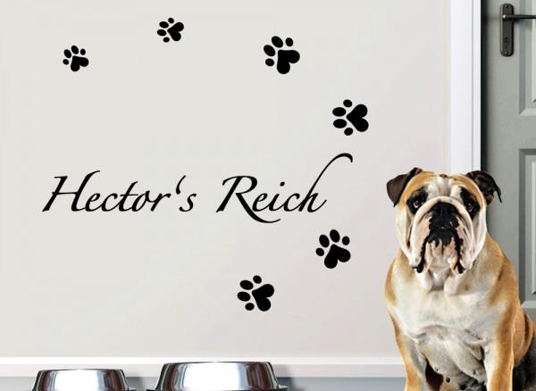 Wandtattoo Reich + Wunschname für Haustiere W5168