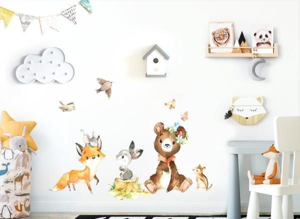 Little Deco Waldtiere Bär Hase Fuchs DL551