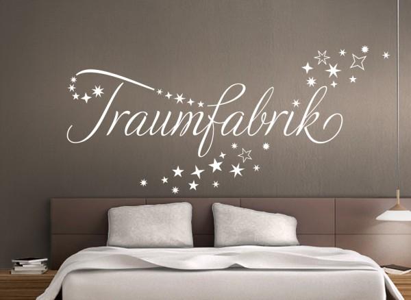 wandtattoo zitat traumfabrik im sternschweif w708 spr che zitate schlafzimmer. Black Bedroom Furniture Sets. Home Design Ideas