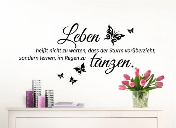Wandtattoo Spruch Leben Heißt Nicht Zu Warten... W996