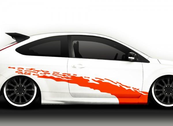 Autoaufkleber 2er Set Racingstyle X7041