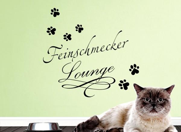 Wandtattoo Feinschmecker Lounge mit Pfoten für Haustiere W5209